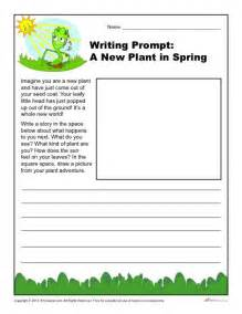 New plant in spring writing prompt for 3rd 4th and 5th grade