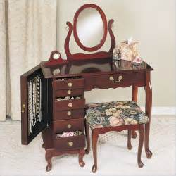 powell furniture heirloom cherry wood makeup vanity table