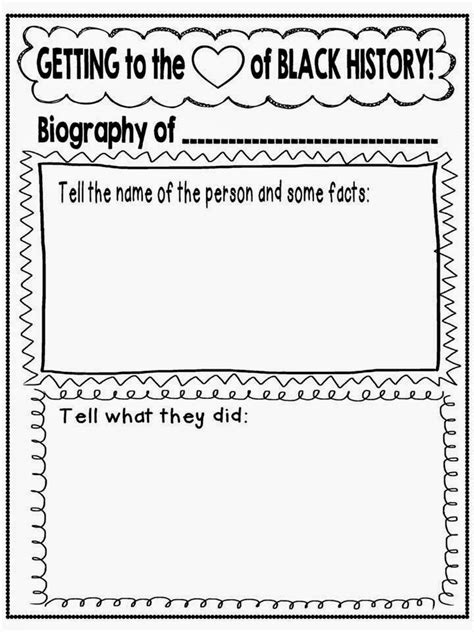 black history report template getting to the of black history month freebie