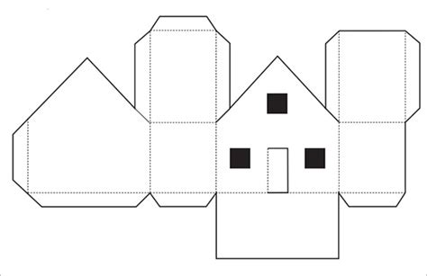 Paper Folding House - paper house template 19 free pdf documents