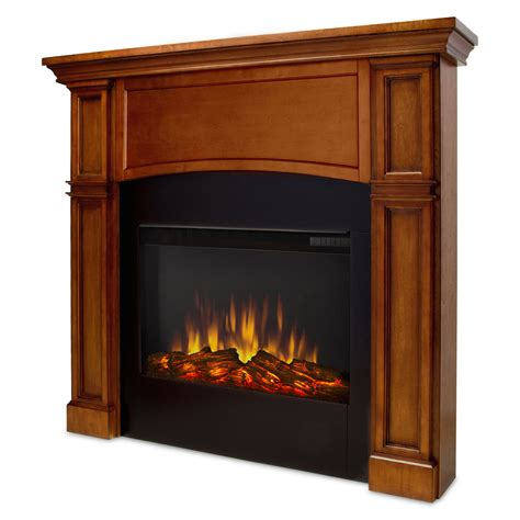 Fireplaces Bradford by Real Bradford Slim Line Electric Fireplace In Pecan