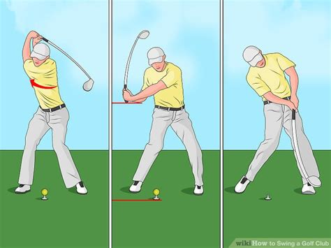 swinging golf club the best way to swing a golf club wikihow