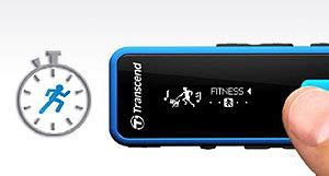 Transcend Digital Player Mp350 8gb Fitness Tracker transcend mp350 8gb rugged mp3 player with radio