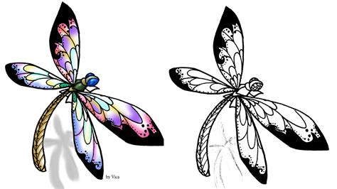 dragonfly outline tattoo www pixshark com images