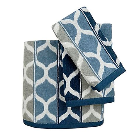 blue patterned hand towels priya bath towel collection bed bath beyond