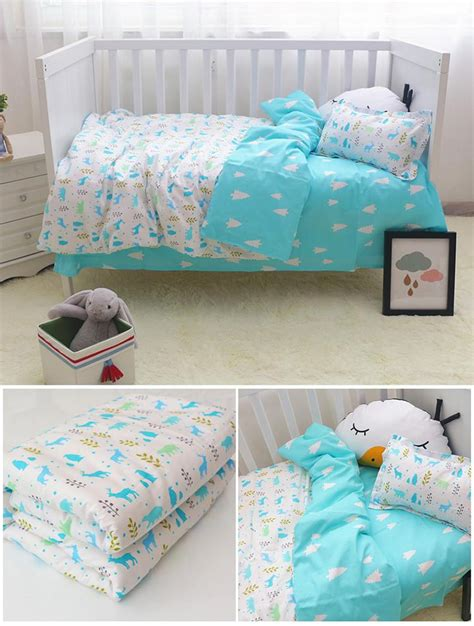 Colorful Crib Bedding New 100 Cotton Animals Baby Quilt Bedding Colorful Children Crib Bedding