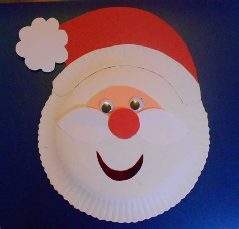 may arts and crafts paper plate santa