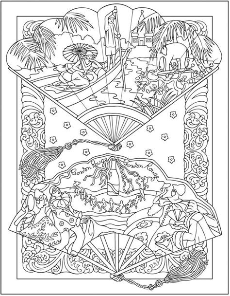 Vintage Fashion Coloring Pages Pictures To Pin On Vintage Coloring Books