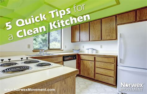 7 quick and easy kitchen cleaning ideas that really work norwex movement