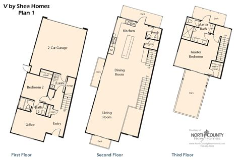 shea homes floor plans v by shea homes in leucadia floor plan 1 north county
