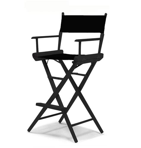 Canvas Directors Chair by Directors Chair Black Frame Black Canvas