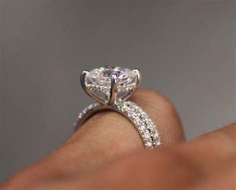 mm cushion   moissanite diamond wrap halo