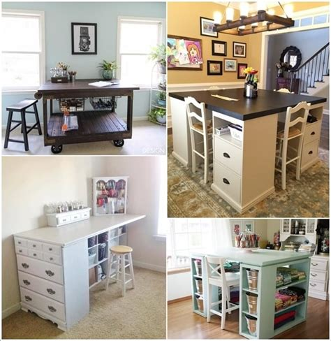 diy craft room ideas 10 cool diy craft table ideas for your craft room