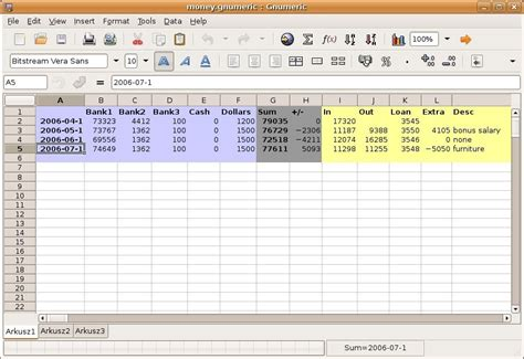 Spreadsheet Editor by Gnumeric 1 12 23 Open Source Spreadsheet Editor Brings