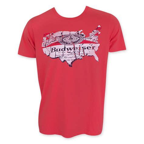 Tees Kaos T Shirt Budweiser budweiser junk food map t shirt