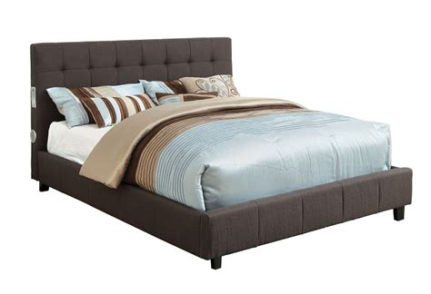 eastern king bed furniture of america eastern king bed gray fabric w