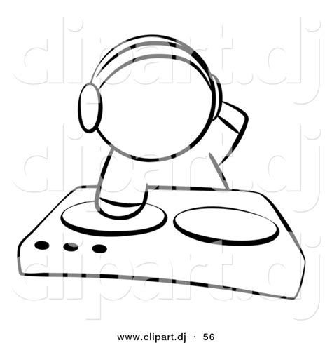dj page vector clipart of a dj mixing records on dual turntable