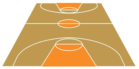 outdoor basketball court template basketball court clipart clipartion