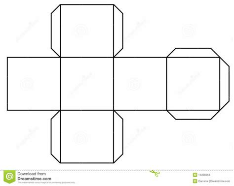 How To Make A 3d Cuboid Out Of Paper - free coloring pages outline of a printout cube you can