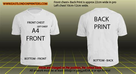 printable area on a t shirt tshirt mockup templates east london printers