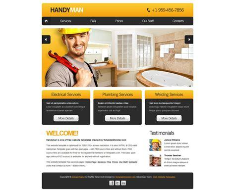 Handyman Website Template Entown Posters Org Website Templates