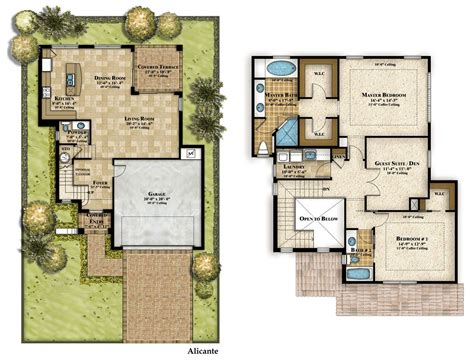 cool 2 story house floor plans homes story