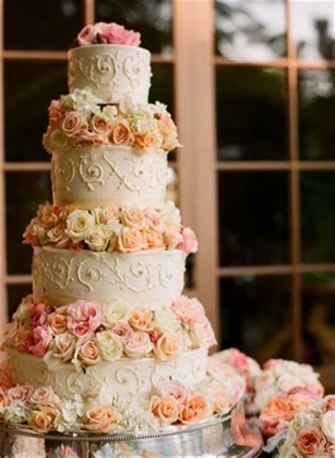 Hochzeitstorte Lachsfarben by Lets See Your Wedding Cake Or Cupcakes How Much Did You