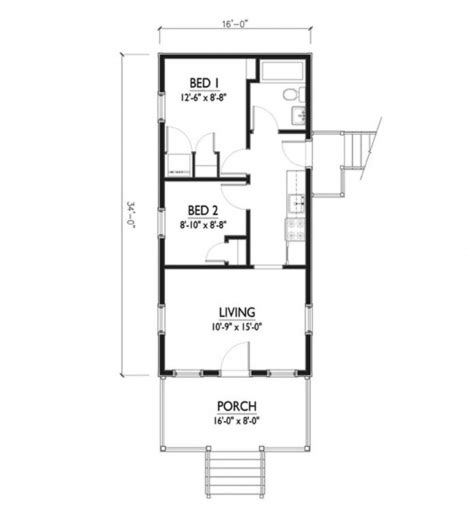 incredible house plans incredible cottage style house plan 2 beds 1 baths 544 sqft plan 514 5 15 feet by 50