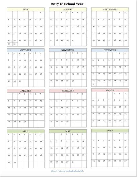 yearly printable calendars 2016 2017 yearly school calendar