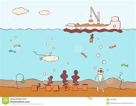 botar un barco que es barco que contamina el mar con la basura t 243 xica stock de
