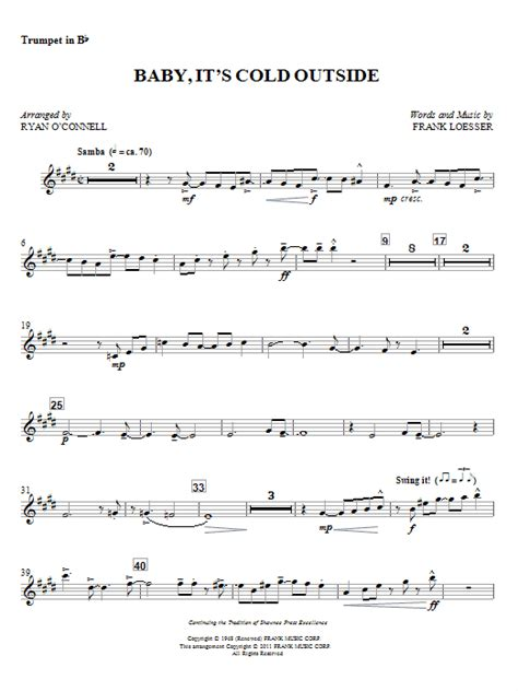 Baby Musician Trumpet baby it s cold outside bb trumpet sheet direct