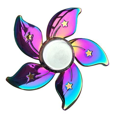 fidget spinner rainbow floral spinner 3d focus