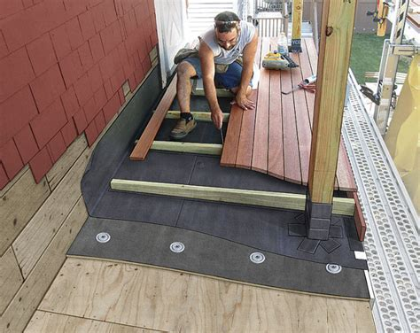 Decking Over a Roof   Fine Homebuilding