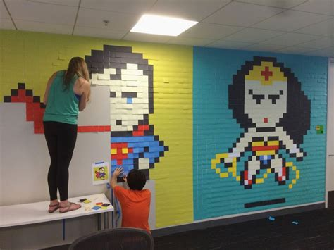 turn photo into wall mural post its turn office wall into mural blogging on design marketing