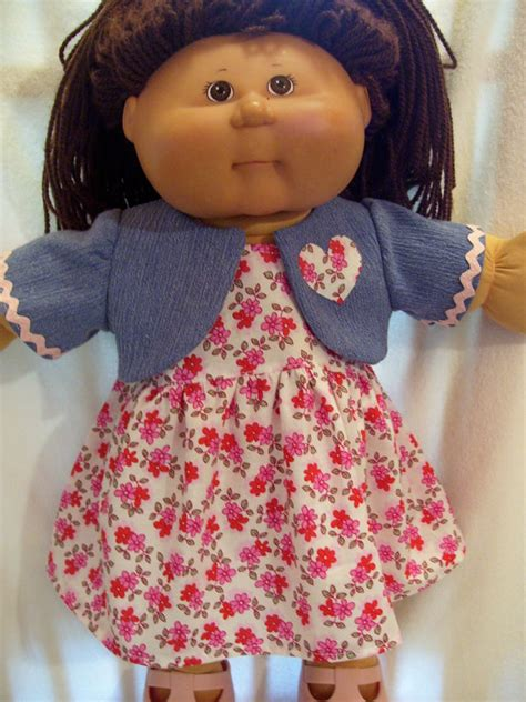 cabbage patch doll clothes bolero and dress fits 16inch to