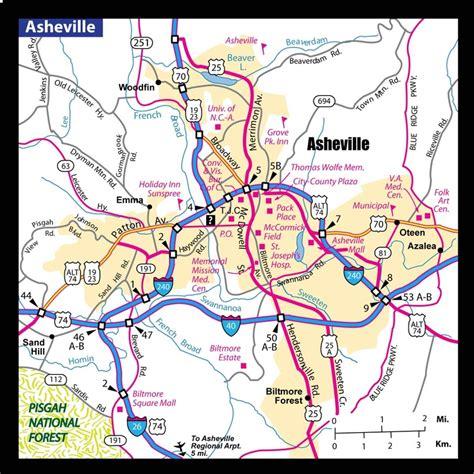 map of asheville nc a map of asheville nc asheville area