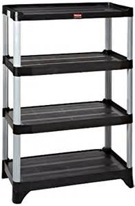 rubbermaid shelving unit rubbermaid commercial fg9t3800bla 4 shelf unit shelving