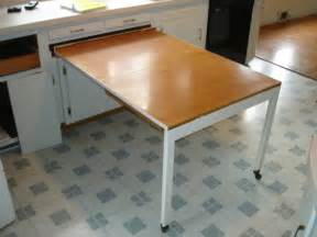 kitchen cabinets with a built in table