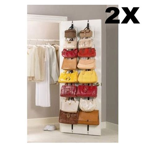 closet door organizers 2 the door hanging purse clothes hat storage closet organizer hanger straps ebay