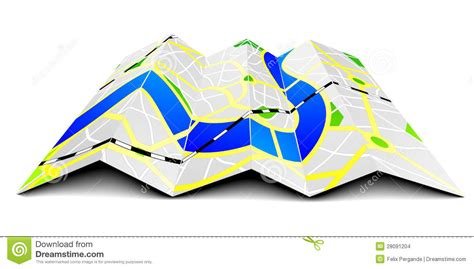 Visio Home Design Download folded city map stock images image 28091204