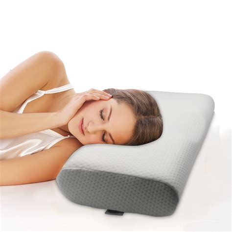 comfortable bed pillows memory foam bed valuetom cervical contour pillow for neck