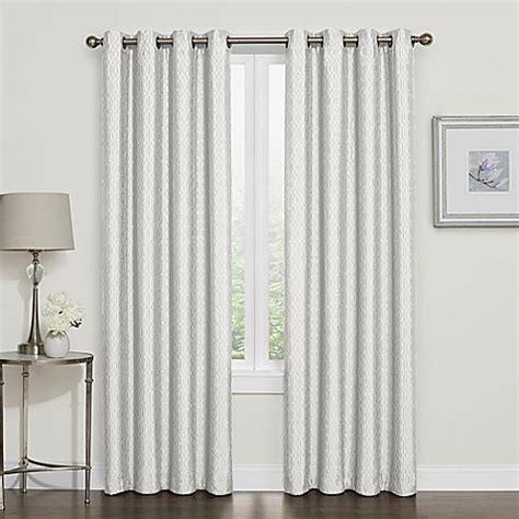 95 inch white curtains buy darcy 95 inch room darkening grommet top window