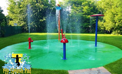 backyard splash park carpentersville illinois backyard home splashed installed