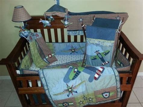 complete nursery bedding sets airplain crib volusialife