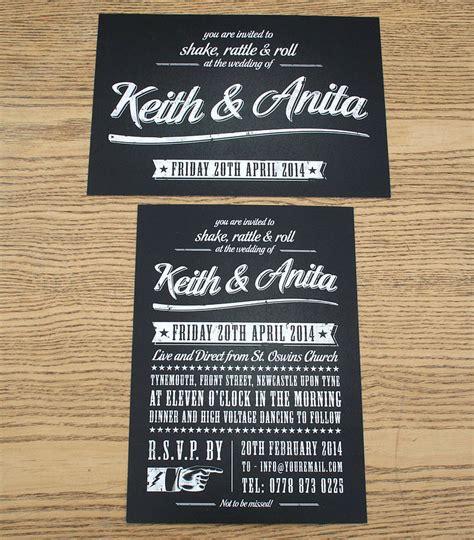 rock n roll wedding invitations rock n roll invitations