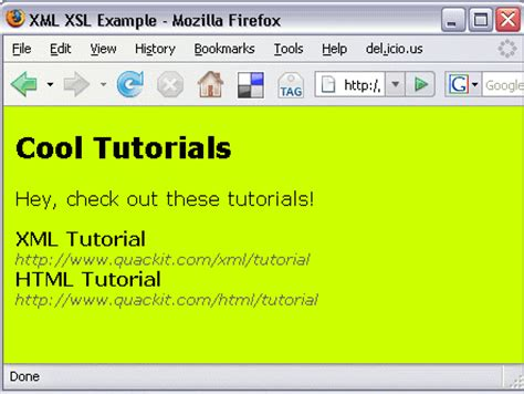 xslt tutorial xml and xsl