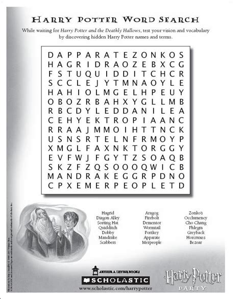 printable word search harry potter harry potter wordsearch puzzle reading writing and
