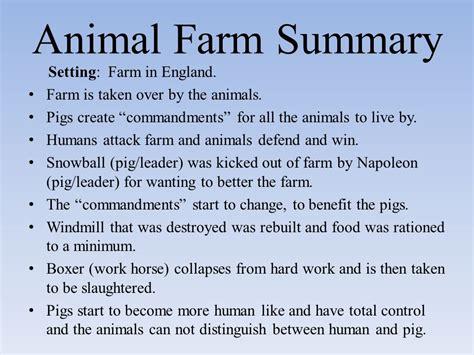 george orwell biography short summary animal farm summary setting farm in england ppt video