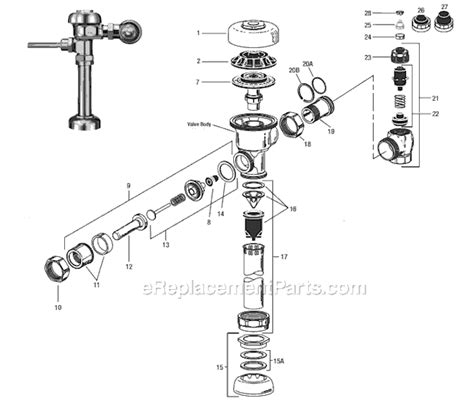 sloan valve parts diagram sloan regal parts list and diagram xl