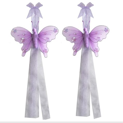 butterfly tie backs for curtains butterfly tiebacks purple lavender jewel curtain holdback